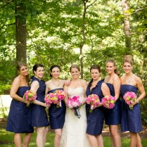 Preppy Pink And Navy Wedding By Events In The City
