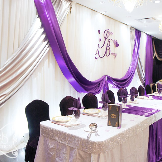 Purple And Silver Wedding Decorations