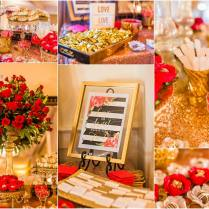 Red And Gold Wedding Decor At 21 Main Events At North Beach