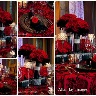Red Black And Silver Wedding Decoration Ideas