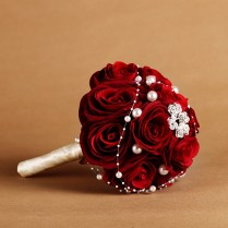 Red Rose Wedding Bouquet Online Shopping