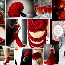 Red White Themed Wedding Ideas
