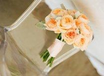Romantic Outdoor Wedding Spring Summer Ivory Peach Wedding Flowers