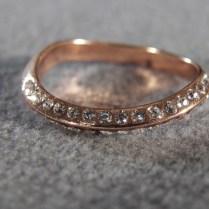 Rose Gold Wedding Band With Diamonds