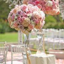 Rose Tall Wedding Centerpieces
