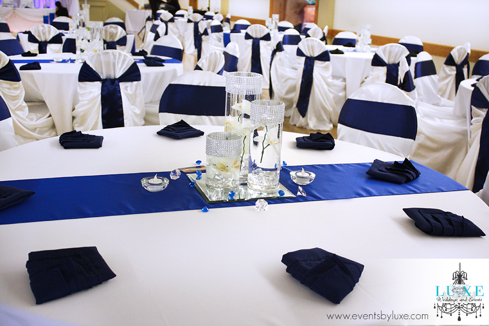 Imgenes De Royal Blue Silver And White Wedding Decorations