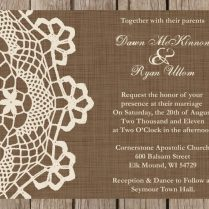 Rustic Burlap Wedding Invitation Wording Invitations Diy Rustic