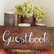Rustic Wedding Guestbook Guest Book Alternative Rustic Wedding