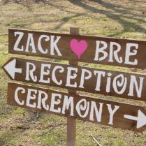 Rustic Wedding Signs 3 Large Painted Wood Signs 1 Tall Stake Beach