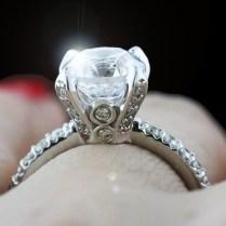Sapphire Blooming Wedding Ring Custom Made Wedding Bands Custom