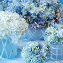 Shades Of Blue Wedding Centerpiece Ideas