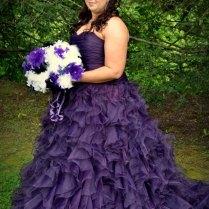 Short Purple Wedding Dress