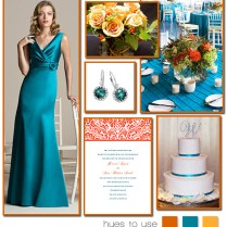 Teal And Tangerine