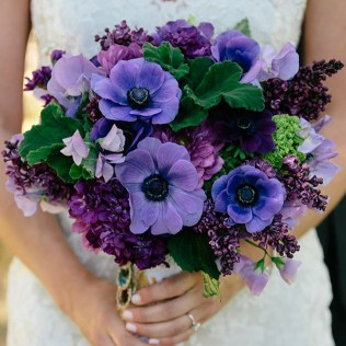 Too Pretty To Miss Purple Wedding Bouquets