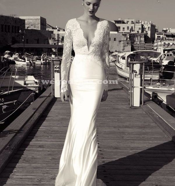 Vintage Wedding Dress Long Sleeve Lace