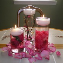 Wedding Artistic Decorating Wedding Floating Candles Centerpieces