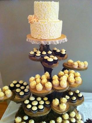 Wedding Cake Cupcake Stand