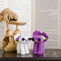 Wedding Cake Topper Bunnies – White And Mauve Purple