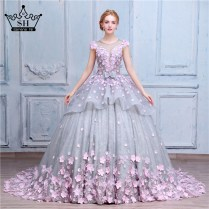 Wedding Dress Embroidered Flowers Promotion