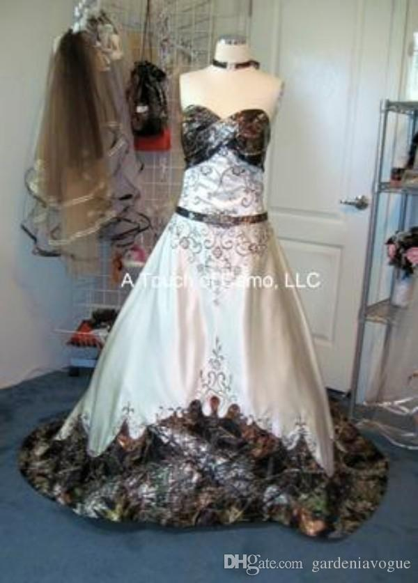 Camo Wedding Dress For Plus Sizes