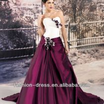 Wedding Dresses With Burgundy Accents