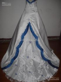 Wedding Dresses With Color Blue