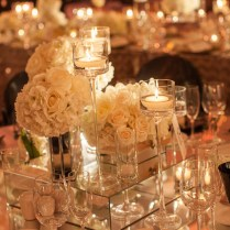 Wedding Reception Centerpieces With Mirrors