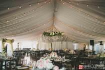 Wedding Tent Lighting Featuring Market Lights & Amber Wash Lights