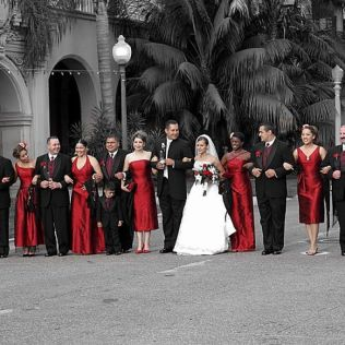 Wedding Themes Red Black And White