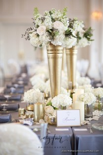 White And Gold Centerpieces
