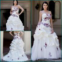 White And Purple Wedding Dress Naf Dresses