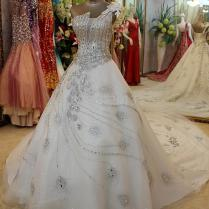 Wholesale Luxurious Peacock Pattern Embroidered Floor With Crystal
