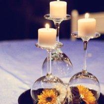 Wine Glass Wedding Centerpieces Ideas