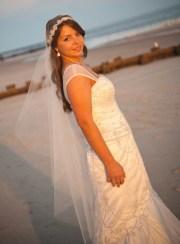 veil beach wedding