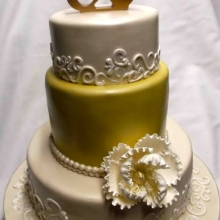 12 50th Wedding Anniversary Square Cakes Photo