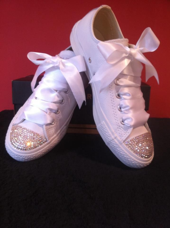 Bedazzled Converse For Wedding