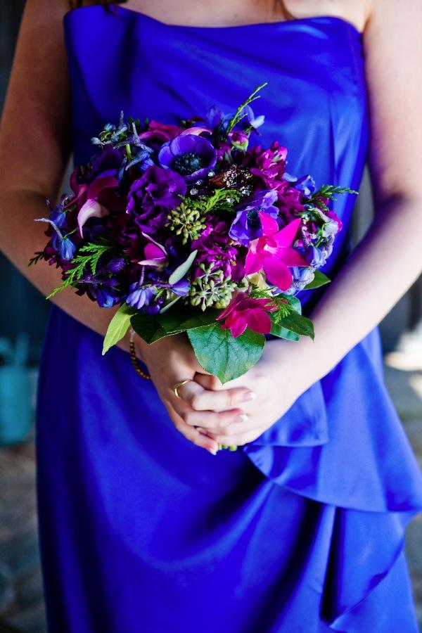 Cobalt Blue Wedding Bouquets