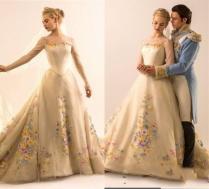 2015 Hot Sale Cinderella Wedding Dresses Illusion Long Sleeves