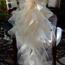 2016 Ruffled Chair Sashes White Ivory Champagne Chair Covers
