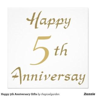 5th Wedding Anniversary Magnificent Fifth Wedding Anniversary