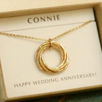 7 Year Anniversary Gift For Wife Necklace, 7th Anniversary Gift