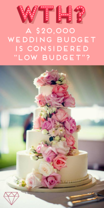 A $20,000 Wedding Budget Is Considered Low Budget