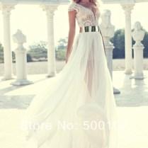 Aliexpress Com Buy Vintage V Neck Beaded Pearls Chiffon Skirt