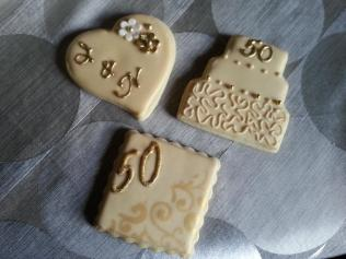 Assorted 50th Wedding Anniversary Cookies