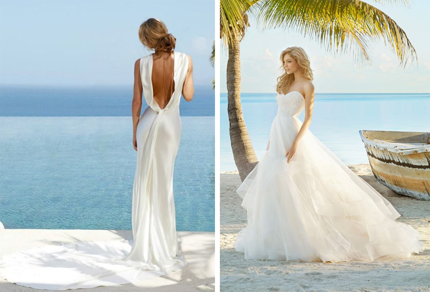 Beach style wedding dresses pictures