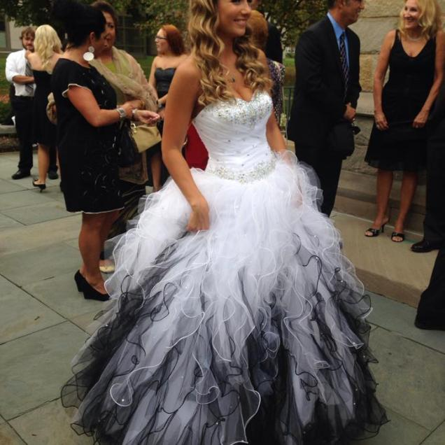 Black And White Wedding Gown