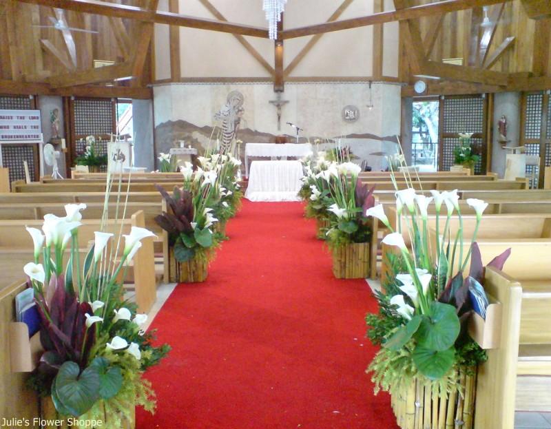 & Church Flower Decorations Wedding
