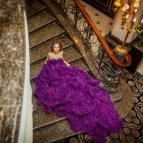 Purple And Gold Wedding Dress