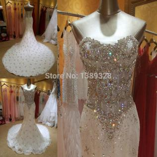 Compare Prices On Trumpet Wedding Dress With Bling