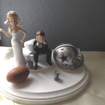 Dallas Cowboys Wedding Cake Topper Bridal Funny Humorous Football